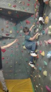 Besuch der Kletterhalle